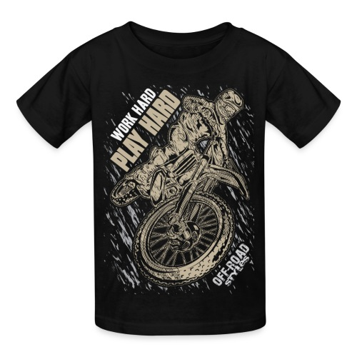 Motocross Play Hard - Kids' T-Shirt