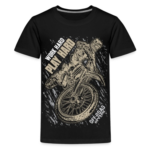 Motocross Play Hard - Kids' Premium T-Shirt
