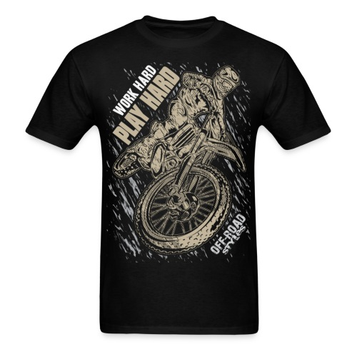Motocross Play Hard - Men's T-Shirt