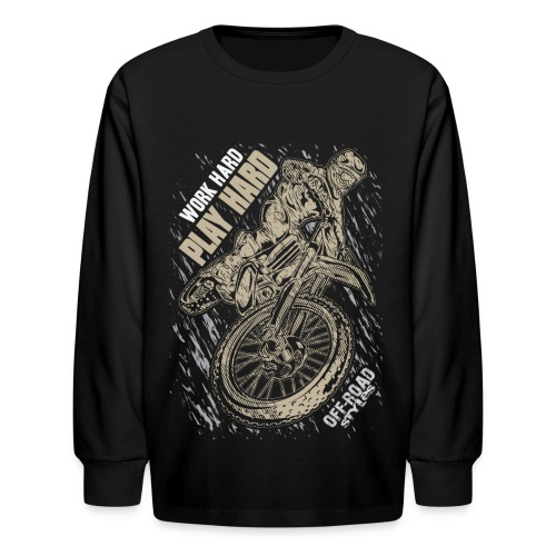 Motocross Play Hard - Kids' Long Sleeve T-Shirt