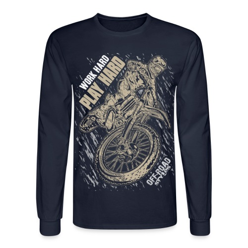 Motocross Play Hard - Men's Long Sleeve T-Shirt