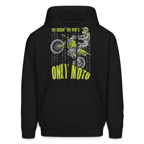 Dirt Bike Only Moto Kawasaki - Men's Hoodie
