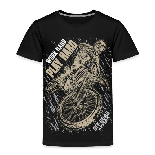 Motocross Play Hard - Toddler Premium T-Shirt