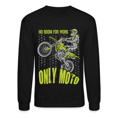 Dirt Bike Only Moto Kawasaki - Crewneck Sweatshirt