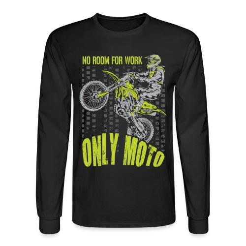 Dirt Bike Only Moto Kawasaki - Men's Long Sleeve T-Shirt