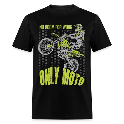 Dirt Bike Only Moto Kawasaki - Men's T-Shirt