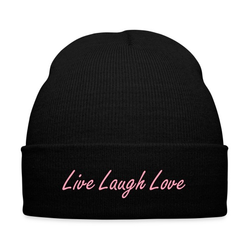 L3 Beanie-PINK - Knit Cap with Cuff Print