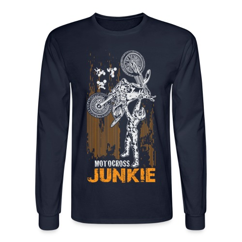 Motocross Junkie - Men's Long Sleeve T-Shirt