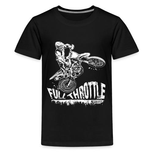 Motocross Full Throttle - Kids' Premium T-Shirt