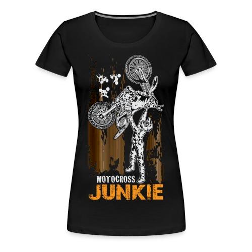 Motocross Junkie - Women's Premium T-Shirt