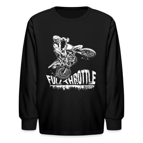 Motocross Full Throttle - Kids' Long Sleeve T-Shirt