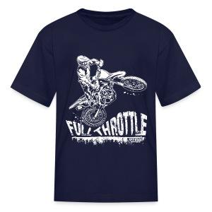 Motocross Full Throttle - Kids' T-Shirt