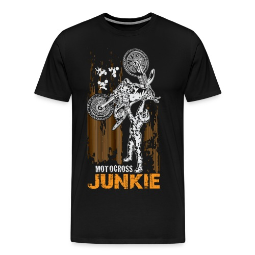 Motocross Junkie - Men's Premium T-Shirt