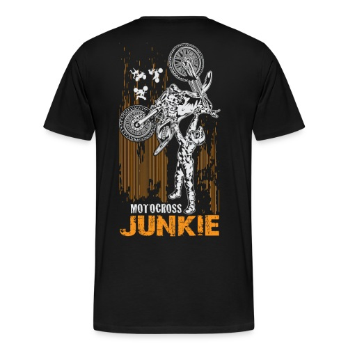 Motocross Junkie BACK - Men's Premium T-Shirt