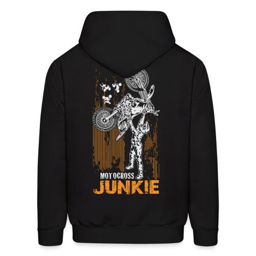 Motocross Junkie BACK - Men's Hoodie