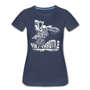 Motocross Full Throttle - Women's Premium T-Shirt