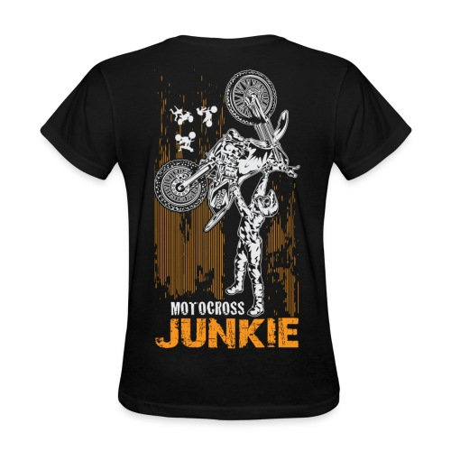 Motocross Junkie BACK - Women's T-Shirt