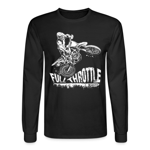 Motocross Full Throttle - Men's Long Sleeve T-Shirt