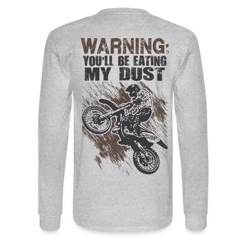 Motocross Dust Warning - Men's Long Sleeve T-Shirt