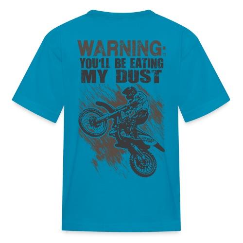 Motocross Dust Warning - Kids' T-Shirt