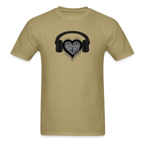 Love Music rhythm heart beat Men's T-Shirt - Men's T-Shirt