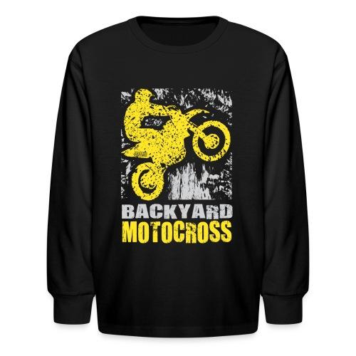 Backyard Motocross Suzuki - Kids' Long Sleeve T-Shirt
