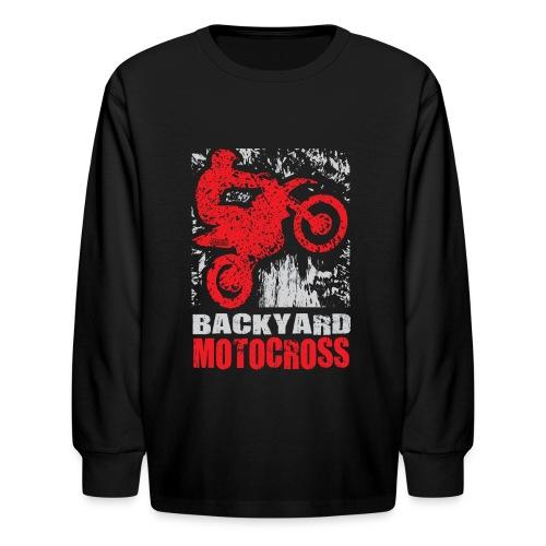 Backyard Motocross Honda - Kids' Long Sleeve T-Shirt