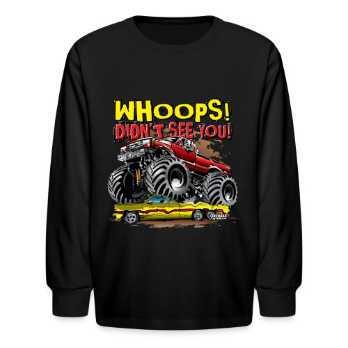 Monster Truck Accident - Kids' Long Sleeve T-Shirt