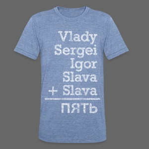 Five from Russia - Unisex Tri-Blend T-Shirt by American Apparel
