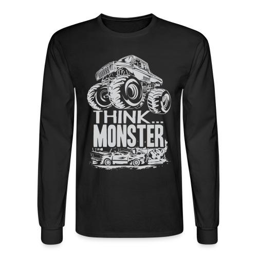 Think Monster Truck - Men's Long Sleeve T-Shirt