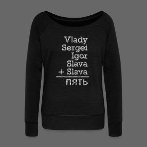 Five from Russia - Women's Wideneck Sweatshirt