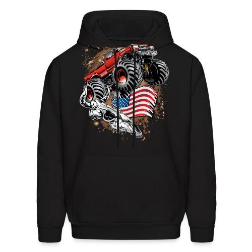 Monster Truck USA Skull - Men's Hoodie