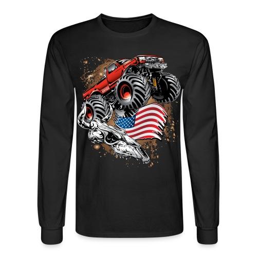 Monster Truck USA Skull - Men's Long Sleeve T-Shirt