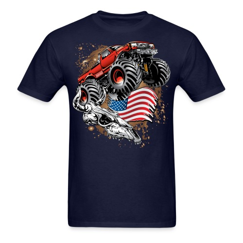 Monster Truck USA Skull - Men's T-Shirt