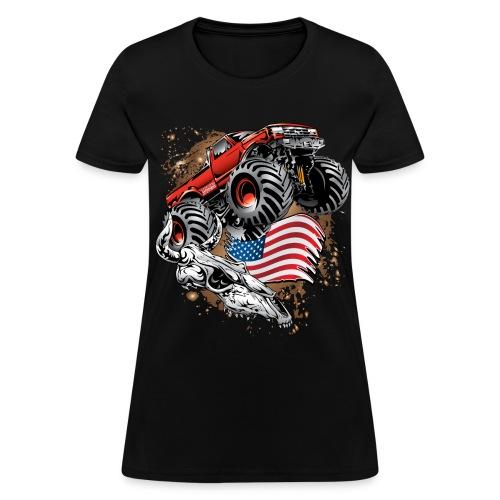Monster Truck USA Skull - Women's T-Shirt