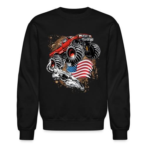 Monster Truck USA Skull - Crewneck Sweatshirt