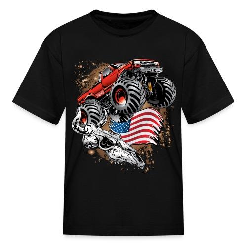 Monster Truck USA Skull - Kids' T-Shirt