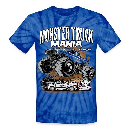 Monster Truck Mania - Unisex Tie Dye T-Shirt