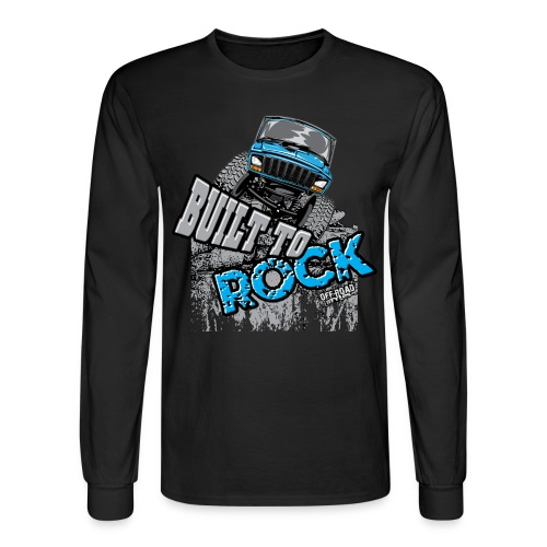 Jeeps Built to Rock - Men's Long Sleeve T-Shirt