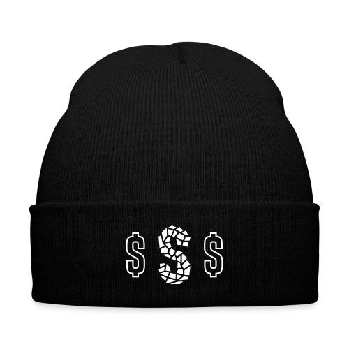 Suga Swag Beanie - Knit Cap with Cuff Print