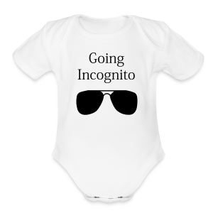 going incognito   baby - Short Sleeve Baby Bodysuit