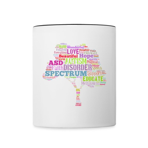 Multi-Color Autism Tree - Trim Mug - Contrast Coffee Mug