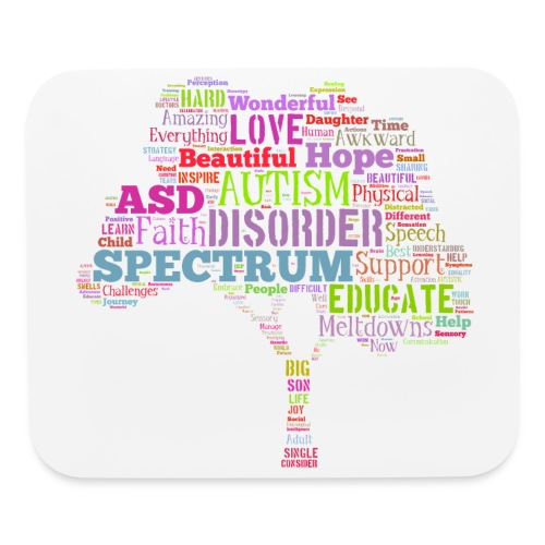Multi-Color Autism Tree - Mouse Pad - Mouse pad Horizontal