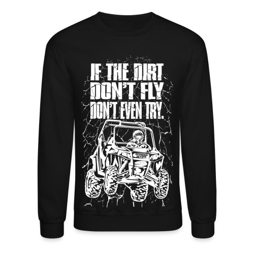 UTV Dirt Fly White - Crewneck Sweatshirt