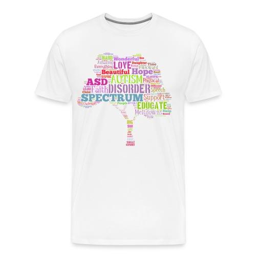 Multi-Color Autism Tree - Men's Premium T-Shirt - Men's Premium T-Shirt