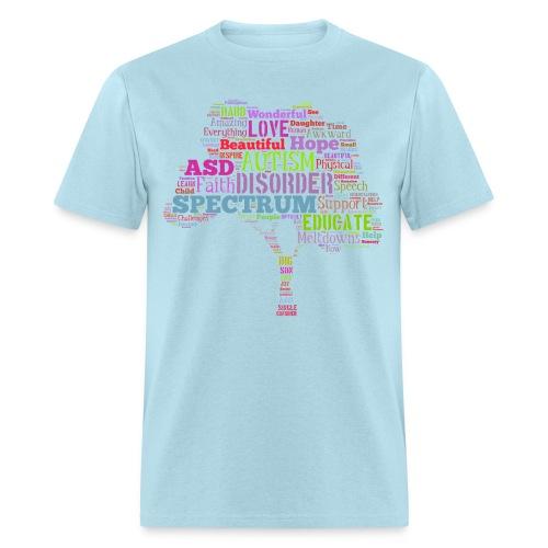 Multi-Color Autism Tree - Men's T-Shirt - Men's T-Shirt