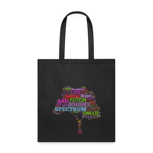 Multi-Color Autism Tree - Tote - Tote Bag