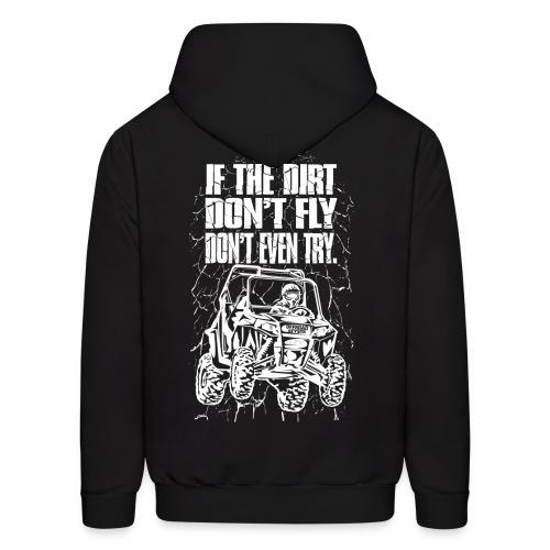 UTV Dirt Fly White BACK - Men's Hoodie
