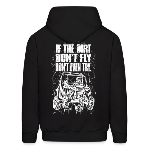 UTV Dirt Fly White BACK - Men's Hoodie