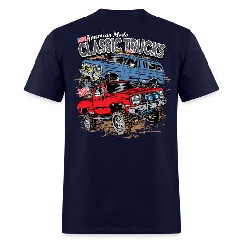 Classic Trucks USA BACK - Men's T-Shirt